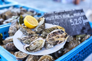 Assiette d'huîtres à Plougasnou