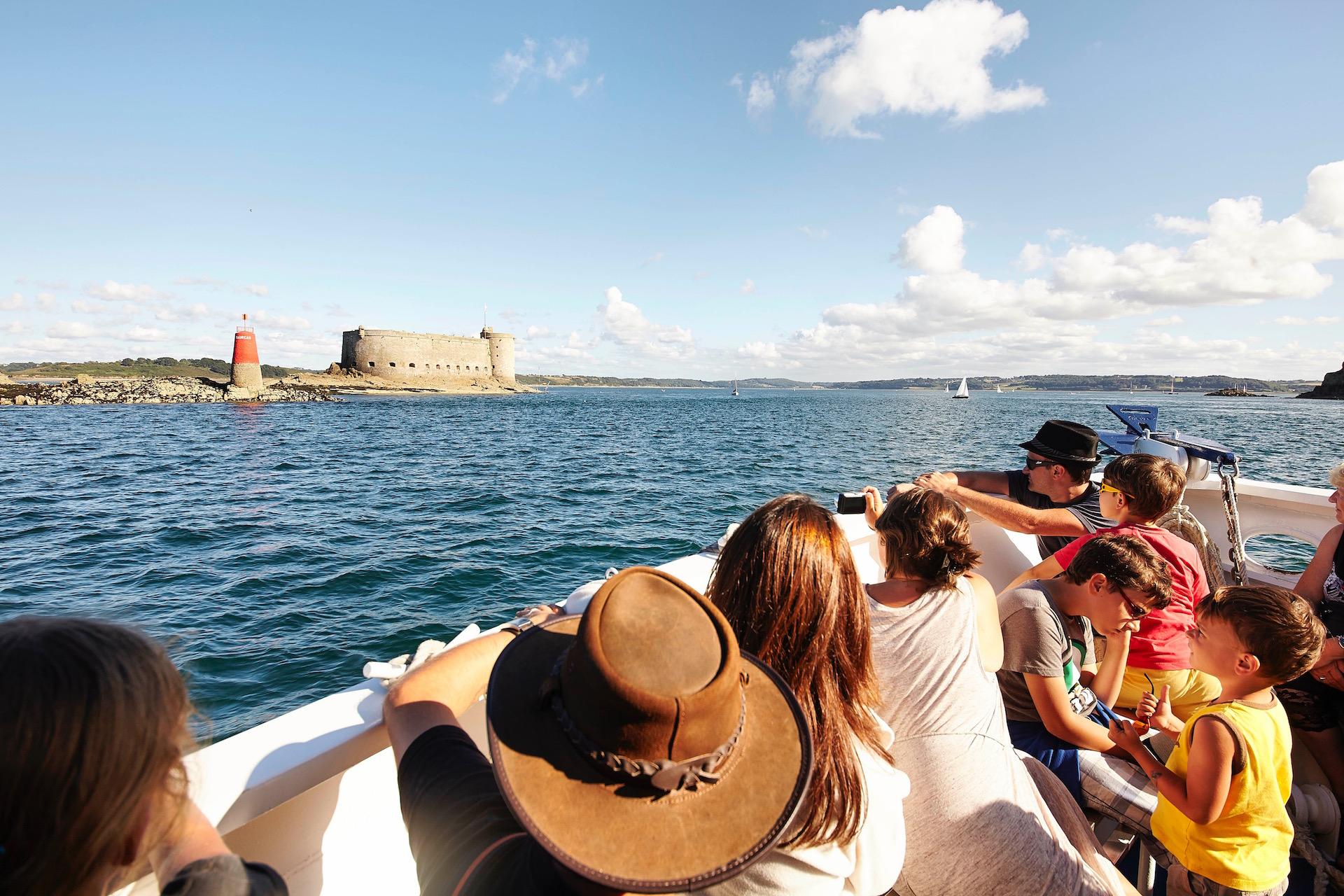 excursion en bateau chateau du taureau, Bretagne, Baie de Morlaix
