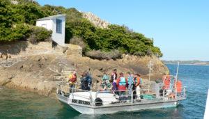 Transfert vers l'île Louët à Carantec, Baie de Morlaix