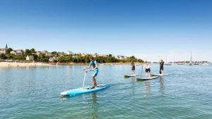 stand up paddle à carantec, baie de morlaix