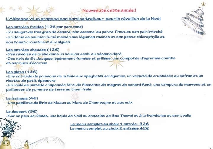 Menu De Noel A Emporter.Menus De Fetes Pour Noel Et Le Reveillon Baie De Morlaix