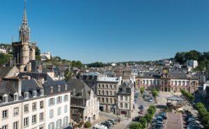 Morlaix vue du viaduc, Bretagne, Finistère