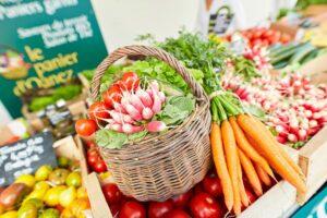 Panier légumes marché Plougasnou
